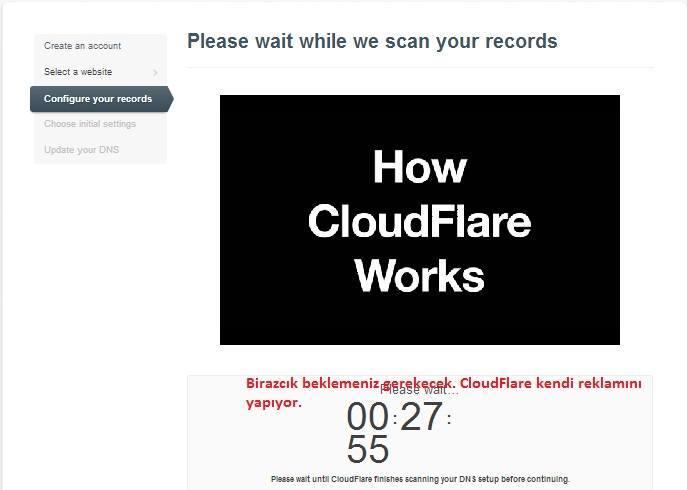 CloudFlare kurulumu resimli