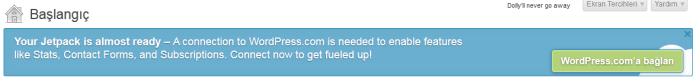 Wordpress Jetpack Kurulum Ekranı