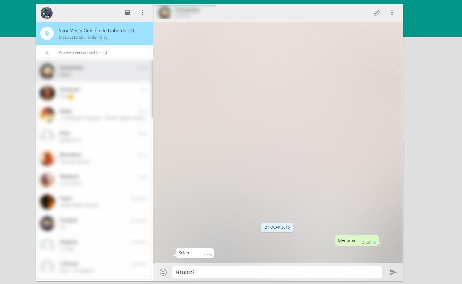 Whatsapp Web Özelliği