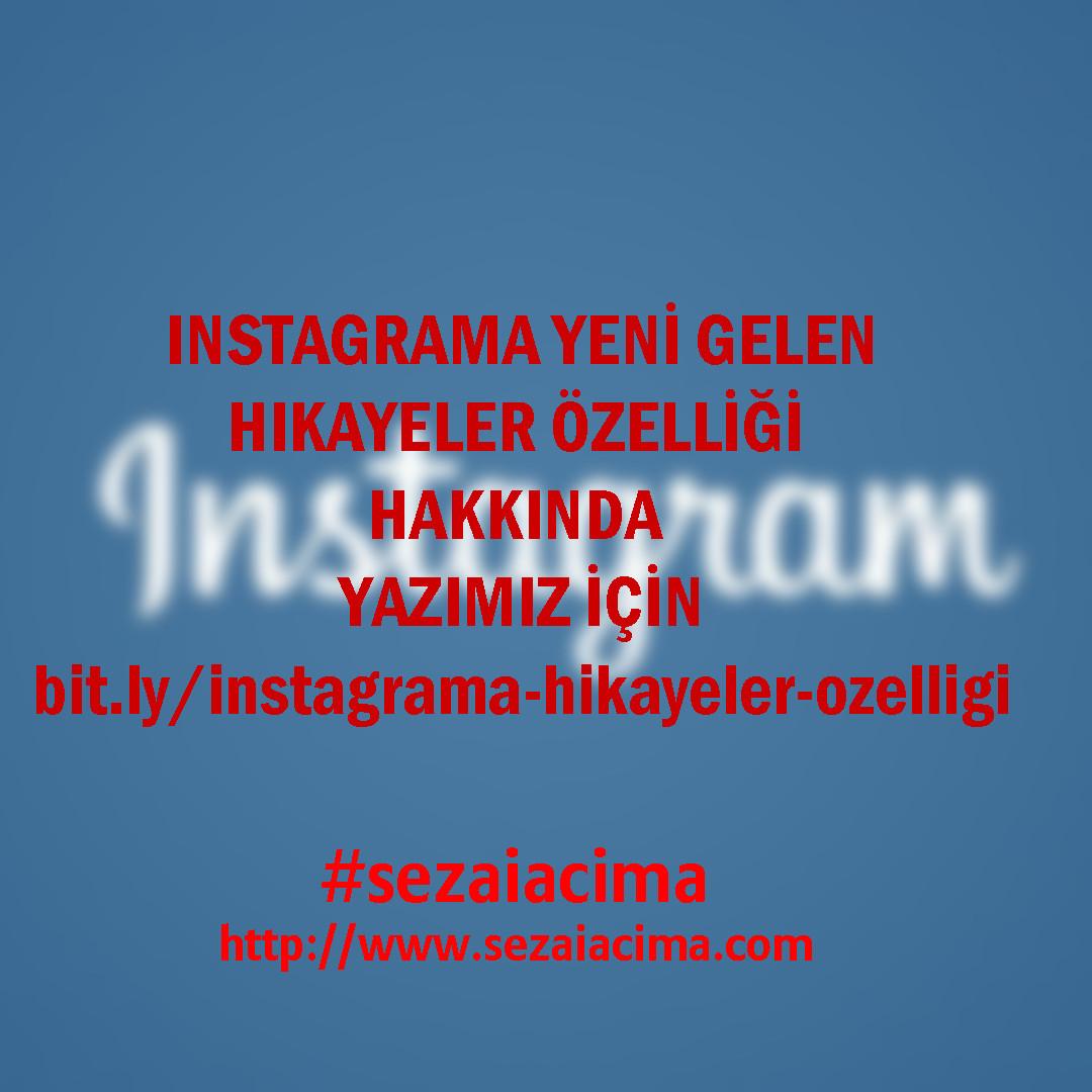 instagram hikayeler özelliği