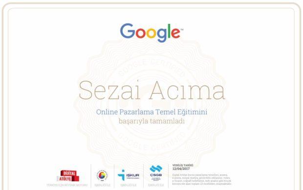 Dijital atölye sertifika